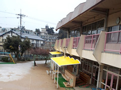 幼稚園テント張替工事(兵庫県・西宮市)