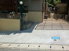 施工事例 Y様邸漏水調査及び駐車場改修工事(兵庫県・西宮市)